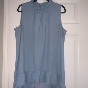 Lane Bryant Size 22/24 Baby Blue High-Low Blouse